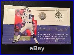 (1) 2000 SP Authentic Football Box (Sealed) Tom Brady RC New England Patriots