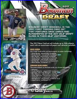 (1) 2017 Bowman Draft Baseball Factory Sealed Hobby SUPER Jumbo Box PRESELL 12/6
