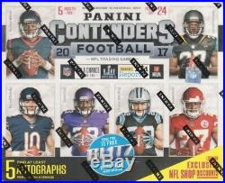 (1) 2017 Panini Playoff Contenders Football Hobby Box Factory Sealed