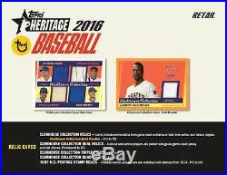 (16) 2016 Topps HERITAGE Baseball Cards New 72ct. Retail Value Box Sealed CASE