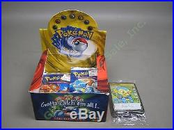 16 Sealed 1999 Wizards Of The Coast Pokemon 11-Card Base Set Booster Packs +Box+