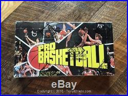 1976 Topps Basketball Wax Box Erving Thompson BBCE SEALED