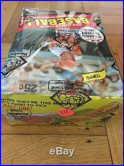 1980 TOPPS BASEBALL WAX BOX BBCE Sealed 36 ct Henderson PSA