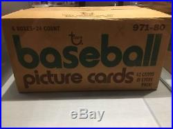 1980 Topps Baseball 6 Rack Box Wax Case Unopened BBCE Ready Factory Sealed
