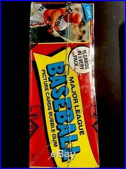 1980 Topps Baseball Box FASC 36ct Packs BBCE Wrapped (From A Sealed Case) PSA RC