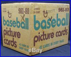 1980 Topps Baseball Unopened Sealed 3-Box Rack Case Rickey Henderson BBCE Ready