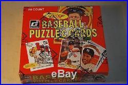 1982 DONRUSS Baseball Wax Box 36 Sealed Packs Case Fresh BBCE Authentic PSA