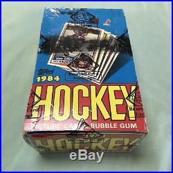 1984 Topps Hockey Full Box 36 Factory Sealed Wax Packs BBCE Wrapped Yzerman