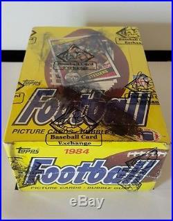 1984 topps football wax box bbce sealed