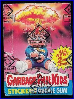 1985 Garbage Pail Kids Series 2 Wax Box (baseball Card Exchange Sealed) 816h