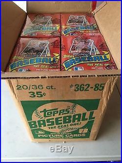 1985 Topps Baseball Unopened Wax Box Bbce 36 Packs Fasc Sealed Case