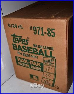 1985 Topps Baseball Rack Pack 6 Box Factory Sealed Unopened Case