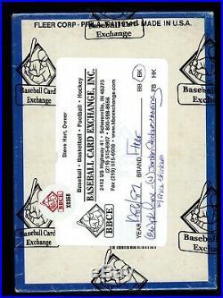 1986-87 Fleer Basketball BBCE Sealed Unopened Pack Wax Box 4 Jordan Stickers