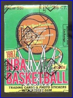 1987-88 Fleer Basketball Unopened Wax Pack Box SEALED