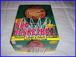 1987-88 Fleer Basketball Unopened Wax Pack Box with 36 Packs BBCE Sealed! Jordan