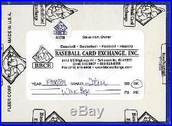 1988-89 Fleer wax box BBCE sealed Michael Jordan