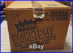 1989-90 FLEER BASKETBALL 36 PACK x 12 BOX CASE UNOPENED FACTORY SEALED RARE