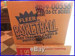 1989-90 Factory Sealed Fleer NBA Basketball Wax Case (12-Box Unopened Case)