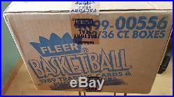1989-90 Fleer Basketball Case Factory Sealed 12 Boxes