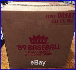 1989 Fleer Baseball Wax Box Case Sealed 20 Boxes