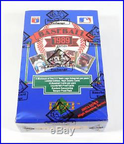 1989 Upper Deck Baseball High # Box BBCE Wrapped FASC From A Sealed Case