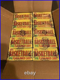 1990 fleer basketball Wax Box BBCE FASC Sealed 03/21