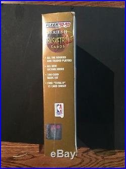 1992-93 Fleer Basketball Series 2 JUMBO Box 24 Packs Factory Sealed Total D
