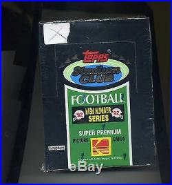 1992 Stadium Club Football High Number Series Factory Sealed Wax Box-Brett Favre