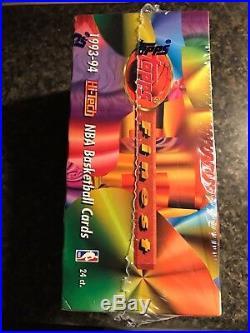 1993-94 Topps Finest Basketball Factory Sealed Gem MintJumbo Box 24 Packs Cards