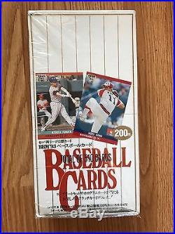 1993 BBM Japanese Baseball Cards Sealed Box With Receipt. ICHIRO SUZUKI ROOKIE