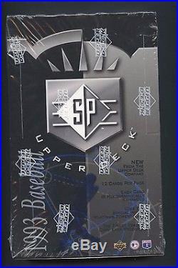 1993 SP Baseball Factory Sealed Unopened Box with 24 Packs Derek Jeter RC