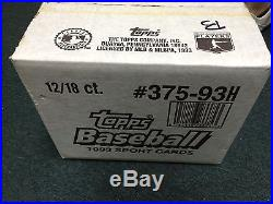 1993 Topps Baseball Factory Sealed Case (12 Boxes, 18 Packs)