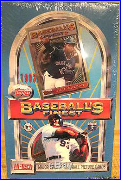 1993 Topps Finest Baseball Factory Sealed Box RARE RYAN Refractor