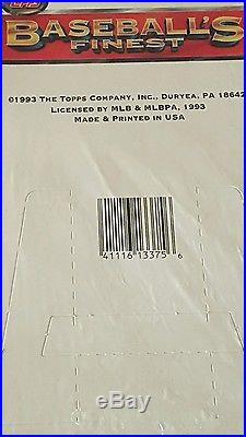 1993 Topps Finest Factory Sealed Unopened Box