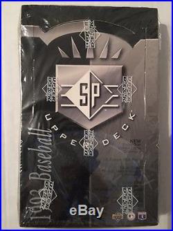 1993 Upper Deck SP Baseball FACTORY SEALED Box Possible DEREK JETER Rookie Card$