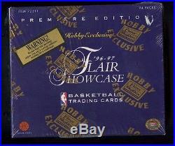 1996-97 FLEER FLAIR SHOWCASE BASKETBALL SEALED UNOPENED WAX BOX 24 PACKS