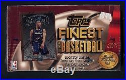 1996-97 TOPPS FINEST BASKETBALL SERIES 1 SEALED UNOPENED WAX BOX 24 PACKS