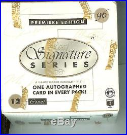 1996 leaf signature box sealed autographs baseball cards premiere edition
