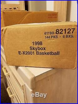 1997-98 ex 2001 basketball sealed case! 6 box case! Extremely rare