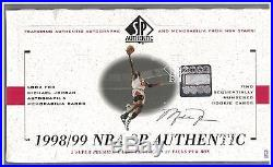 1998-99 Upper Deck SP Authentic Basketball Sealed Hobby Box 24 packs Nowitzki RC