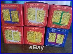 1999 Pokemon BK 23k Gold-Plated Cards. Full Set of 6 STILL SEALED IN BOX