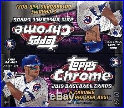 2 Box Lot 2015 Topps Chrome Sealed Jumbo Hobby Baseball