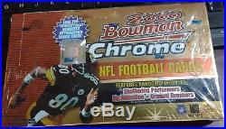 2000 Bowman Chrome Football Factory Sealed Hobby Box Tom Brady Rookie