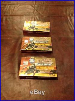 2000 Bowman Chrome Football factory sealed 24 pack box TOM BRADY Rookie card