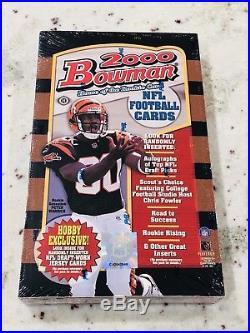2000 Bowman Football Sealed Hobby Box 24 Packs Tom Brady SP/99 Goat