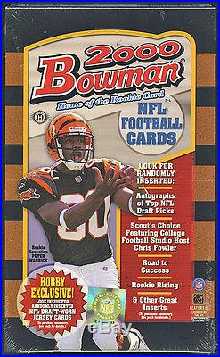 2000 Bowman Sealed New Hobby Football Box (Possible Tom Brady Rookie & Gold RC)