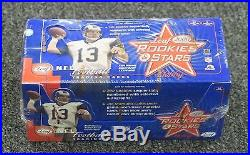 2000 Leaf Rookies & Stars Football Factory Sealed Hobby Box Tom Brady RC Year