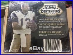 2000 Playoff Contenders Football Factory Sealed Hobby Box