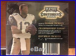 2000 Playoff Contenders Football Factory Sealed Wax Box Tom Brady RC
