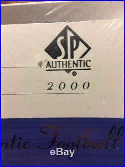 2000 Sp Authentic Football Factory Sealed Box 24 Packs, Tom Brady /1250 Rc